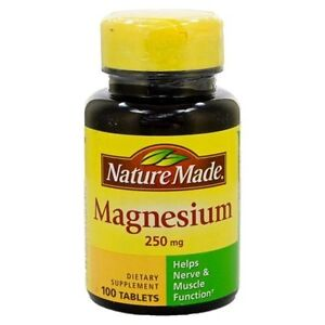 Nature Made Magnesium 250mg 100ct (tablets) - FAST SHIPPING