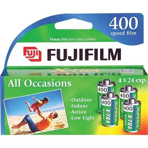 Fuji Film - 4-pack Of Superia Iso 400 Color 35mm Film