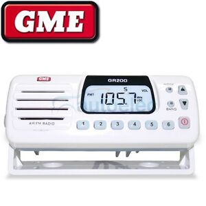 GME GR200  BOAT MARINE  RADIO  WATERPROOF DUSTPROOF AM FM LW SW  VHF  WHITE