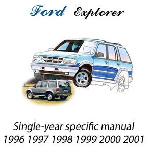 Ford Explorer 1996 1997 1998 1999 2000 2001 Service Repair