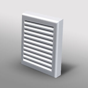 "... Ducting Soffit Grille Cover Bathroom Extractor Fan Ducting 4"" Spigot"
