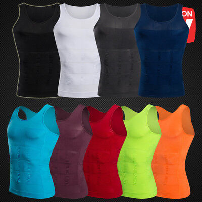 Fashion Men Slim Tummy Control Girdle Shirt Vest Corset Body Shaper Tank Top Gw
