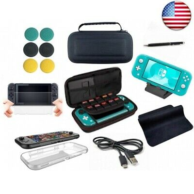 Accessories Bundle for Switch Lite with Tempered Glass Screen Protector,USB