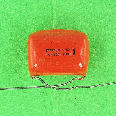 Sprague 225py Polyester Capacitor 1.0uf 100v Dc 10 Radial Lead Vdc 1 Pre-tested