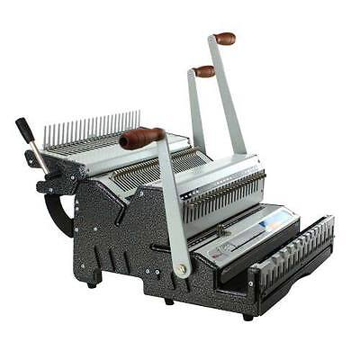 New Akiles Duomac C31 Plastic Comb And 31 Wire Binding Machine - Free Shipping