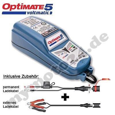 Batterieladegerät Tecmate OptiMate 5 Voltmatic, Vollst. 6V/12V-Pflege f. mittl./