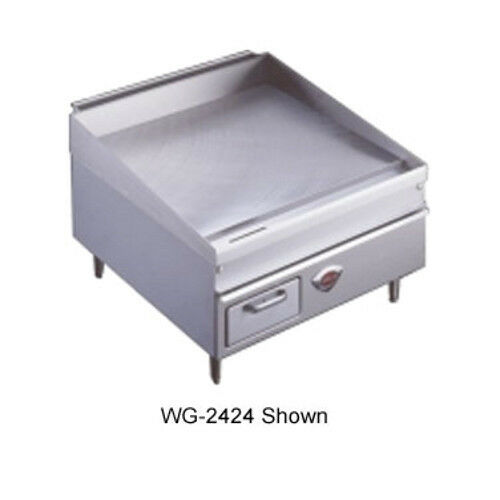 "Wells 2424g 23-7/8""w Natural Gas Countertop Griddle"