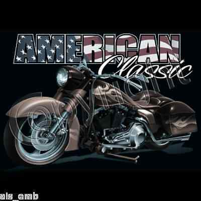American Classic Motorcycle Bike Heat Press Transfer T Shirt Sweat Print 047a