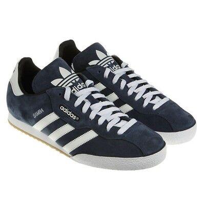 adidas Originals Samba Super Suede Trainers - Navy/White - 019332 - Size UK 7-12