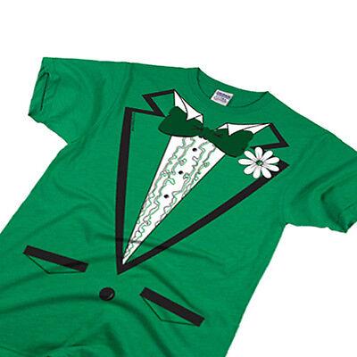 Green Tuxedo Irish St Patricks Day Tux Paddys costume flag Ireland lucky -