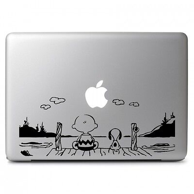 Snoopy Watch the sun Vinyl Decal Sticker for Macbook Air & Pro 13 15 17'' Laptop