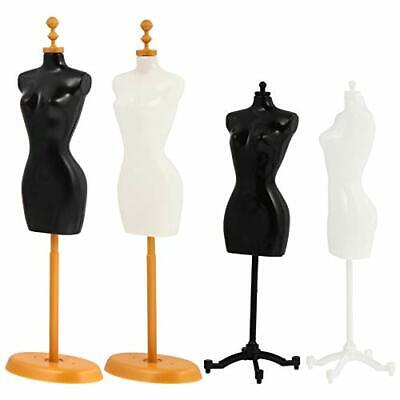Female Mannequin Torso 4 Pcs Dress Form Manikin Body With Base Stand For