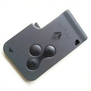 Renault Megane Remote Locking Fob Key Card Shell Case 3 Button