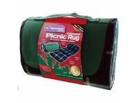 Kingfisher Waterproof Picnic Rug Practical Camping Solution, 105 x 135 cm