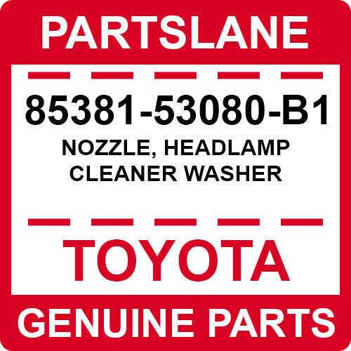 85381-53080-b1 Toyota Oem Genuine Nozzle, Headlamp Cleaner Washer