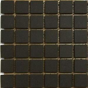12mm Ceramic Unglazed Porcelain Mosaic Tiles. Black | eBay