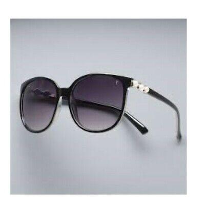 SIMPLY VERA WANG $34 Black White Pearls ADORE Cat Eye Large Women's (Wang Sunglasses)