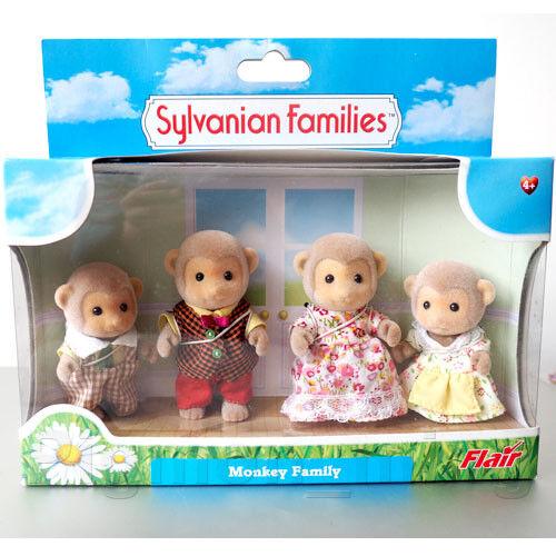 Sylvanian Families Monkey Family BNIB Flair UK 4434