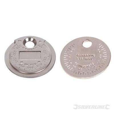 SILVERLINE CAR AUTO  COIN SPARK PLUG GAP TOOL FEELER GAUGE 0.5 - 2.55mm   202148