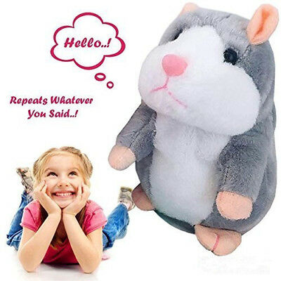 US Cute Cheeky Hamster Talking Mouse Pet Christmas Toys Speak Sound Record Gifts ()