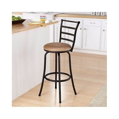 Bar Stools Swivel With Back 29 Inches Home Black Kitchen Dining Counter Height