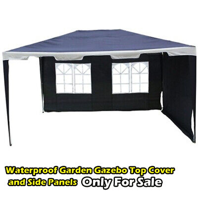 4x3m Waterproof Garden Gazebo Top Cover With 2 Side Panels for Sale 3326A.