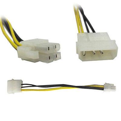 4 Pin Molex to ATX P4 CPU 4 Pin 12V PSU Power Supply Convert Cable Connector Psc Power Converter