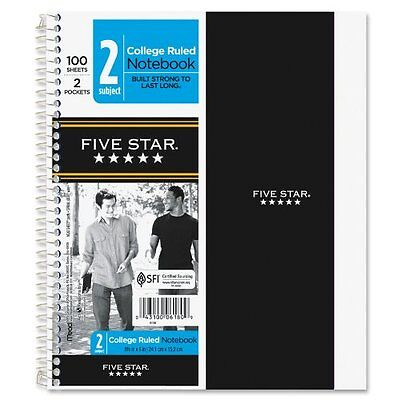 Mead Five Star 2-subject Notebook - 100 Sheet - College Ruled - 9.50 Mea06180