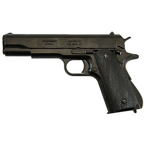 Denix Historic Colt 1911 Replica Black Non-Firing Field Strippable Prop Gun