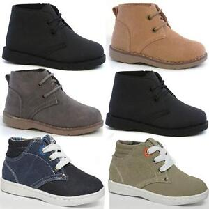 BOYS-DESERT-BOOTS-INFANTS-HI-TOPS-TRAINERS-BIKER-KIDS-RIDING-WINTER-SHOES-SIZE