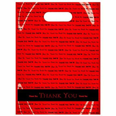 Flexicore Packaging Plastic Thank You Bags with Die Cut Handle Size 9 Inch X ...