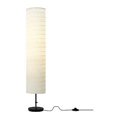 IKEA HOLMO Floor lamp light white Rice paper shade Modern Contemporary New