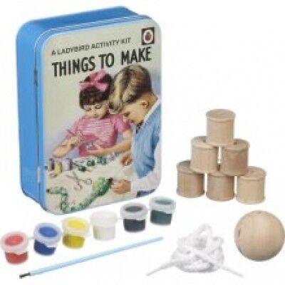 Woodcraft Activity Kit - NEW Ladybird Activity Kit Things To Make Retro Snake Paint Wood Craft Vintage