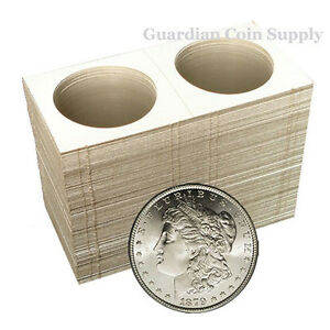 100-Silver-Dollar-Mylar-Cardboard-Coin-Holder-Flips-Coin-Supplies