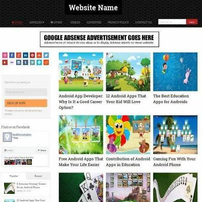 Android Games Apps Store   Mobile Friendly Responsive Website Business For Sale
