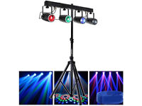 Lighting Rig Setup 4 LED Moving Pattern Lights Stand Cables Brackets DJ Band Bar Club Stage Party