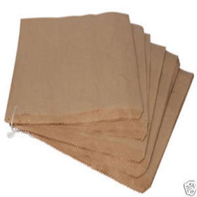 "100 x 8"" x 8"" Brown Paper Kraft Food Retail Bags"