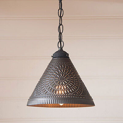 Irvins Tinware Punched Tin Wellington Country Kitchen Pendant Shade (Country Punched Tin)