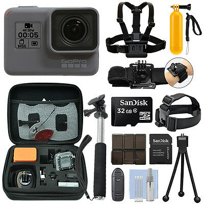 GoPro HERO5 Black Waterproof 4K Camera Camcorder + 32GB Action Bundle