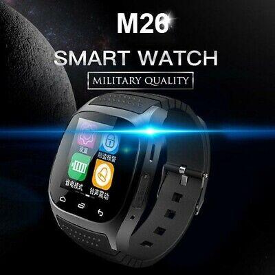 New Black M26 IOS Android Phone Samsung HTC LG Smart Wrist Watch US Seller