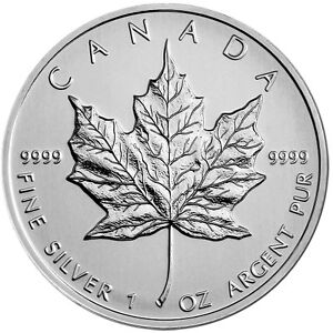 Canadian Maple Leaf 2013 1oz 9999 Fine Silver