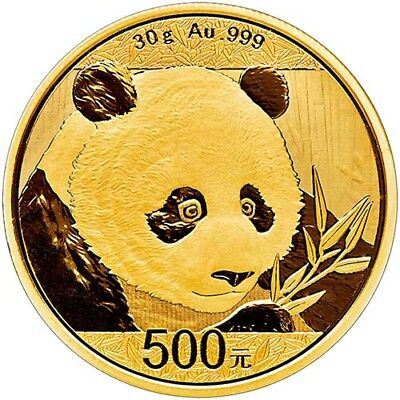 2018 30 Gram Chinese Gold Panda Coin (BU)
