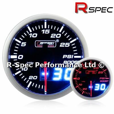 Prosport 52mm Dual Display Amber / White Stepper Motor Turbo Boost Gauge - PSI