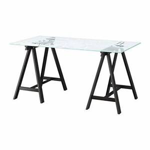 IKEA glass top table (love design) Chatswood Willoughby Area Preview