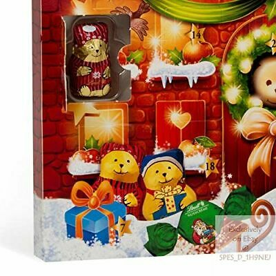 Lindt 2020 Holiday Teddy Bear Holiday Gifting, 6.1 OzAdvent Calendar, Great for