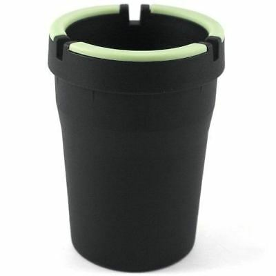 Glow in the Dark Cup-Style Self-Extinguishing Cigarette Ashtray - Black - Glow In The Dark Cup