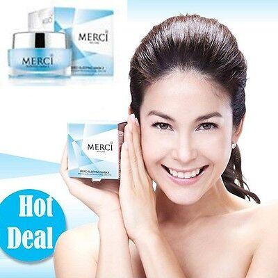 MERCI Best Overnight Face Mask Moisturizer Lightening cream for Acne, Dry