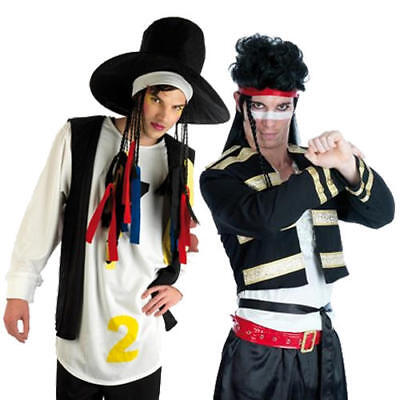 80s Pop Stars Mens Fancy Dress New Romantic 1980s Adults Celebrity Icon Costumes - 1980s Pop Stars