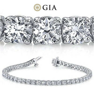 13.76 carat Round Diamond Tennis Bracelet Platinum 39 x 0.35-0.36 ct GIA E-F VS