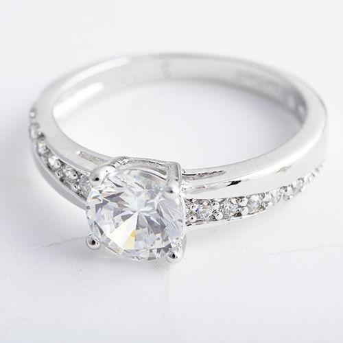 White Gold Engagement Ring Size 5